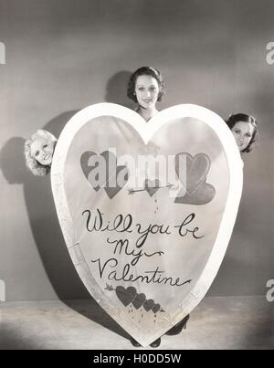 Three bighearted women - Stock Image