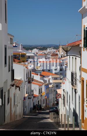 Portugal, Algarve, Lagos, Street Scene - Stock Image