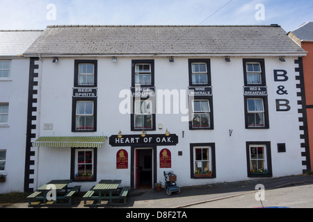 The Heart of Oak public house, registered in 1840 in Milford Haven. - Stock Image