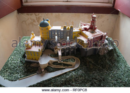 Model of the National Palace of Pena in Sintra - Stock Image