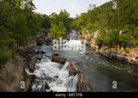 A side channel of The Great Falls of the Potomac, Maryland, USA - Stock Image