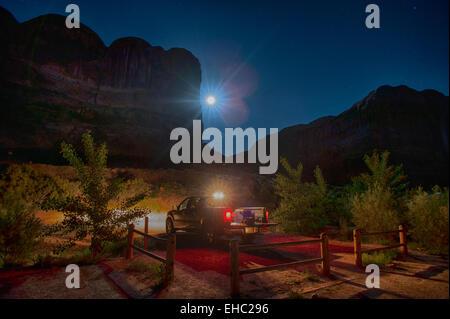 Moonrise Arches National Park - Stock Image