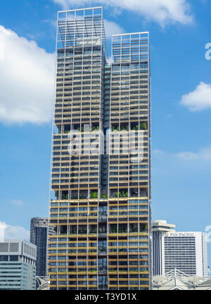 JW Marriott Hotel tower in Singapore. - Stock Image