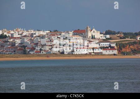 Portugal, Algarve, Ferragudo, View from Portimao - Stock Image