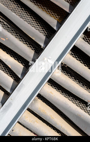 Exterior building ventilation grills as part of the architectural air conditioning unit - Stock Image