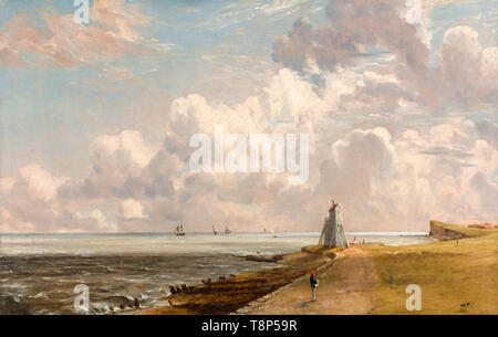 John Constable, Harwich: The Low Lighthouse and Beacon Hill, painting, c. 1820 - Stock Image
