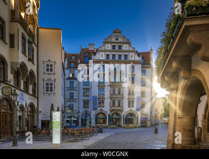 Orlando-Haus am Platzl, Munich, Bavaria, Germany - Stock Image