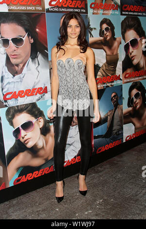 New York, USA. 13 March, 2009. Shanina Shaik at the launch of Carrera Vintage Sunglasses at Angel Orensanz Foundation. Credit: Steve Mack/Alamy - Stock Image