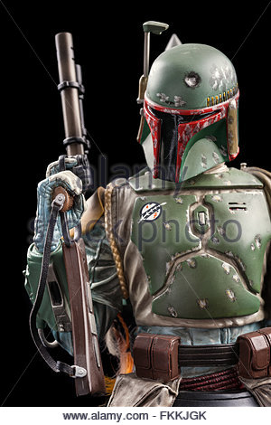 Star Wars bounty hunter Boba Fett (limited edition bust by Gentle Giant Studios) - Stock Image