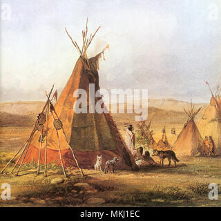 Tepees on the Plain - Stock Image
