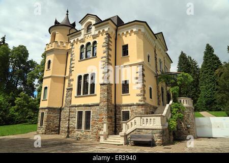 Villa Paradiso nel Parco di Levico Terme, Trentino-Alto Adige region, Italy - Stock Image