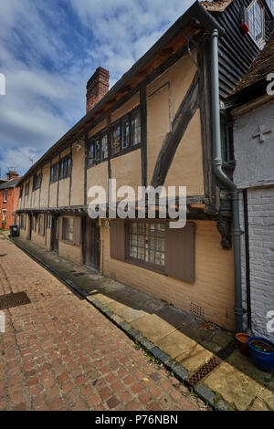 timber framed house in canterbury - Stock Image