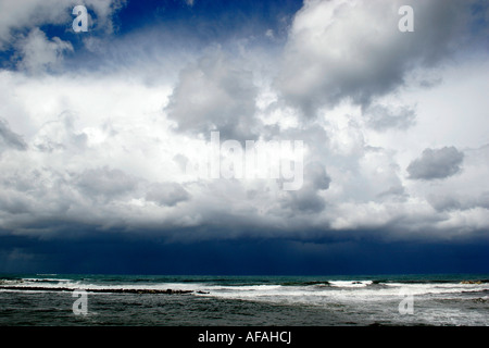 Storm clouds over Trapani (Sicily), Italy. - Stock Image