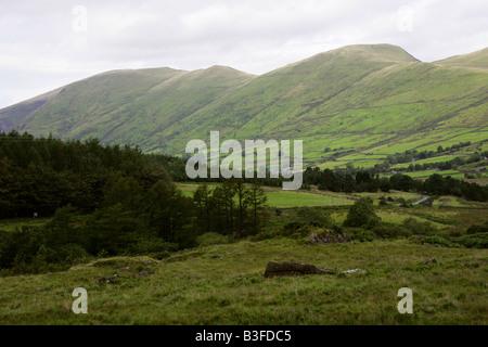View from the Narrow Gauge Steam Train, Welsh Highland Railway, Caernarvon to Rhyd Ddu, North Wales, UK - Stock Image