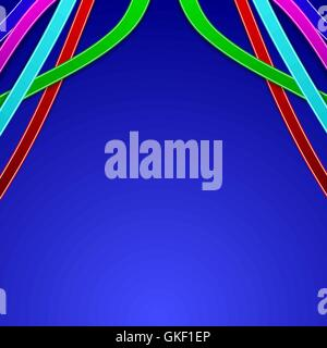 Abstract background with colored lines - Stock Image