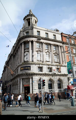 the Grand Central Bar 10-11 O'Connell street formerly the AIB Bank and Munster and Leinster Bank Dublin Republic of Ireland Europe - Stock Image