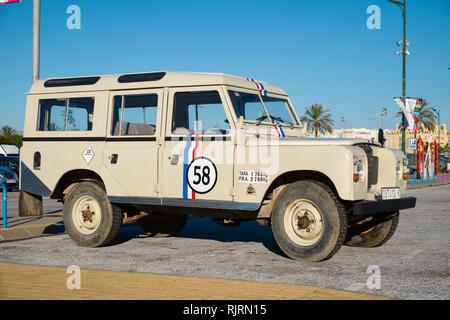 1982 Land Rover Santana (Made in Linares (Spain), Retro Málaga 2019. Spain. - Stock Image