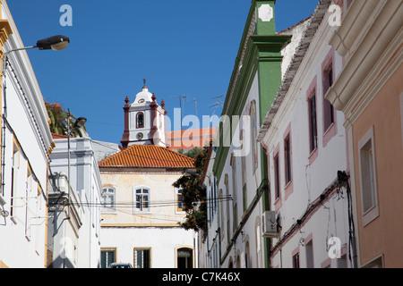 Portugal, Algarve, Silves, Cathedral & Street - Stock Image