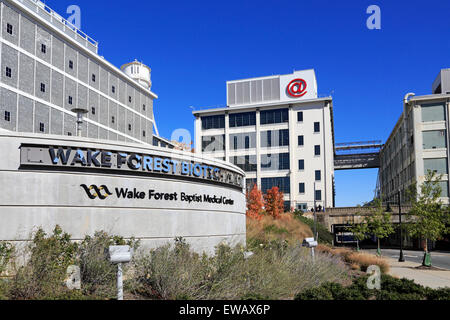 Wake Forest Biotech Place at Wake Forest Baptist Medical Center in downtown Winston-Salem, North Carolina. - Stock Image