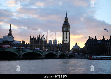 View Of Cityscape Against Sky During Sunset - Stock Image