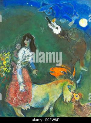 The Sleeping Guitar, Marc Chagall, 1942-1943, Zurich Kunsthaus, Zurich, Switzerland, Europe - Stock Image