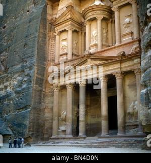 El Khaznah Treasury Petra Jordan - Stock Image