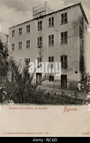 Ajaccio, Corsica, France - Exterior of the Home of Napoleon. - Stock Image