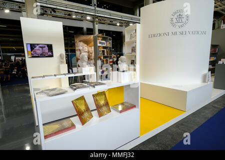 Turin, Piedmont, Italy, 10th May, 2018. International Book fair 2018,first day. Vatican Museums editions. Credit: RENATO VALTERZA/Alamy Live News - Stock Image