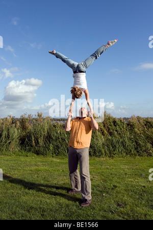 ACROgym, balance, acro, gym, power, poweryoga, power yoga, joga - Stock Image