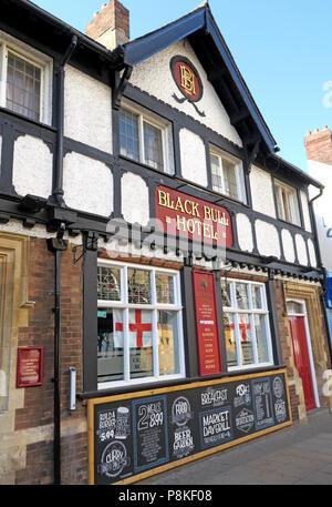The Black Bull Hotel, Market Place, Doncaster, Yorkshire, England, UK - Stock Image