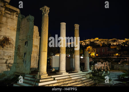 Athens, Greece.  Ruins in the Ancient Agora of Athens. - Stock Image