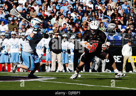 Mar. 06, 2010 - Baltimore, Maryland, U.S - 06 March 2010: Hopkins Midfield Matt Dolente #4 and Princeton Midfield - Stock Image