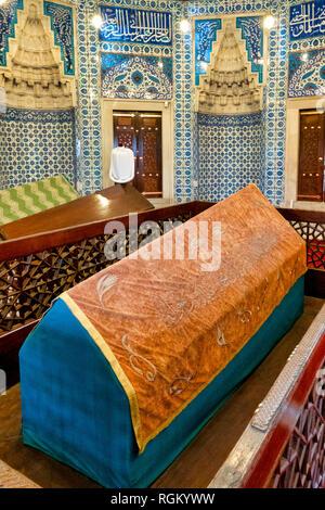The türbe (mausoleum) of Hurrem Sultan in Süleymaniye Mosque at Fatih, Istanbul. - Stock Image