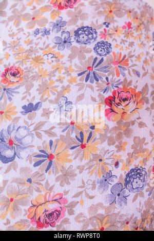 Fabric design, 19th century, Palekh, Ivanovo region, Russia - Stock Image