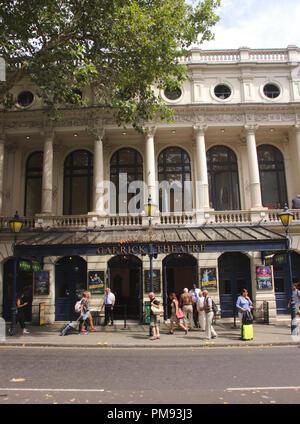 Garrick Theatre Charing Cross Road London - Stock Image