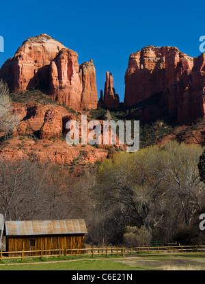 Red Rock Monuments - Stock Image