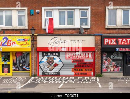 Closed down shop along Shirley Road in Southampton 2019, England, UK - Stock Image