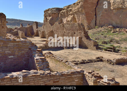 Chetro Ketl, Chaco Canyon, Chaco Culture National Historical Park, New Mexico, USA 180926_69557 - Stock Image