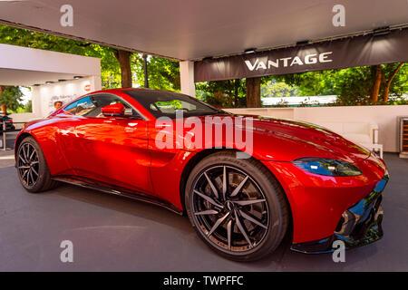Turin, Piedmont, Italy. 22nd June 2019. Italy Piedmont Turin Valentino park Auto Show 2019 - Aston Martin Vantage Credit: Realy Easy Star/Alamy Live News Credit: Realy Easy Star/Alamy Live News - Stock Image