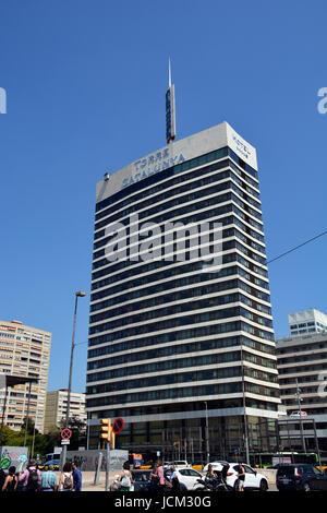 Gran hotel Torre Catalunya,  Avenue de Roma, Barcelona, Spain - Stock Image