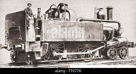 A Metropolitan railway engine.  From The Pageant of the Century, published 1934. - Stock Image