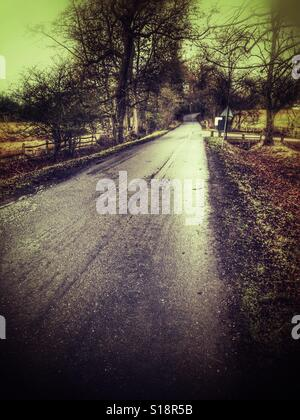 Country road U.K. - Stock Image
