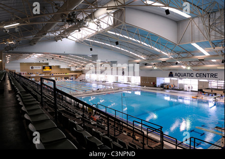 Interior of Challenge Stadium swimming pool. Perth, Western Australia - Stock Image