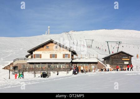 Restaurant Feltuner Hütte, Rittner Horn / Corno del Renon, Dolomite Alps - Stock Image