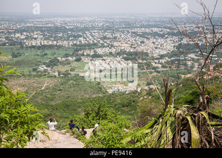 View of Mysore from Chamundi Hill, India - Stock Image