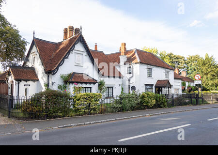 Period cottages, Windmill Road, Fulmer, Buckinghamshire, England, United Kingdom - Stock Image