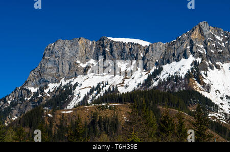 High Mountain With Snow At The Alps In Austria - Stock Image
