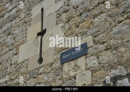 mint street  Tower of London - Stock Image