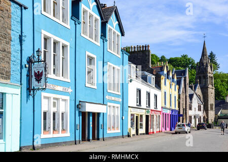 Main Street, Tobermory, Isle of Bute, Inner Hebrides, Argyll and Bute, Scotland, United Kingdom - Stock Image