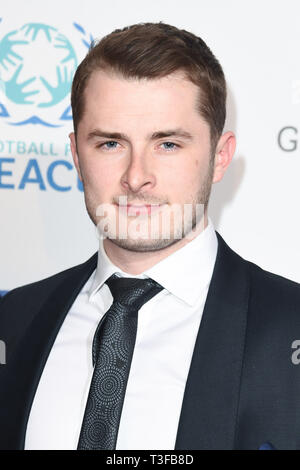 London, UK. 08th Apr, 2019. LONDON, UK. April 08, 2019: Max Bowden arriving for the Football for Peace initiative dinner by Global Gift Foundation at the Corinthia Hotel, London. Picture: Steve Vas/Featureflash Credit: Paul Smith/Alamy Live News - Stock Image
